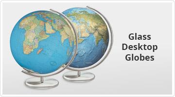 Glass Desktop Globes