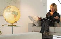 Globe in Living Room